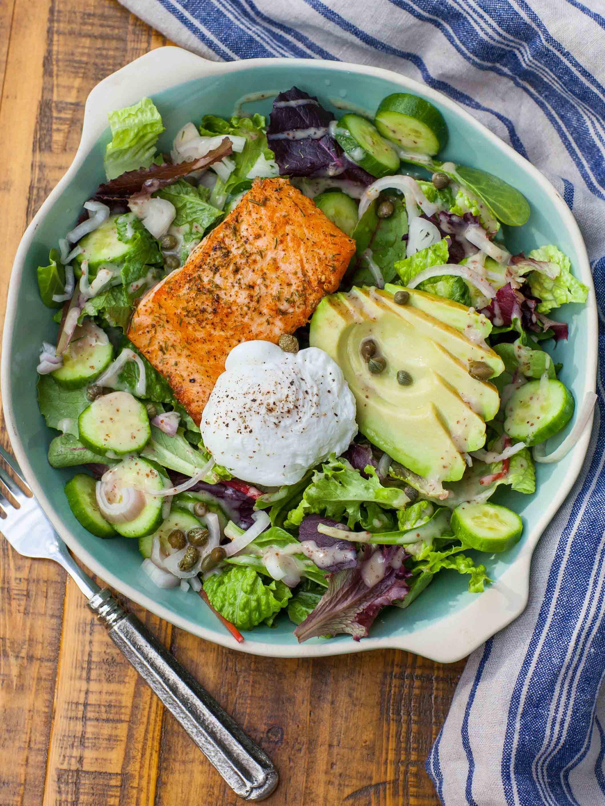 Keto Potato Salad  Keto Avocado Egg and Salmon Salad Tatyanas Everyday Food