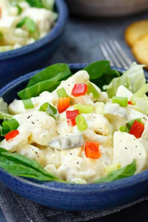 Keto Potato Salad  Cauliflower Potato Salad Recipe Gluten Free Keto Option
