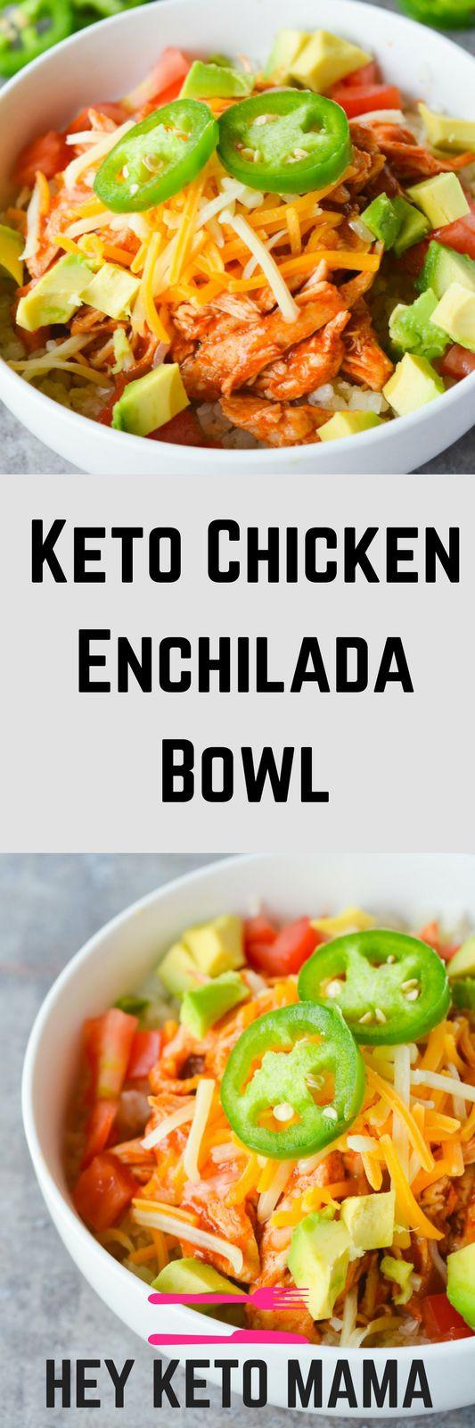 Keto Recipes For Dinner  Keto Chicken Enchilada Bowl Recipe keto