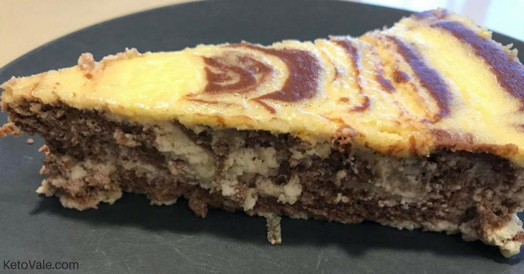 Keto Ricotta Dessert  Zebra Ricotta Cheesecake Low Carb Recipe