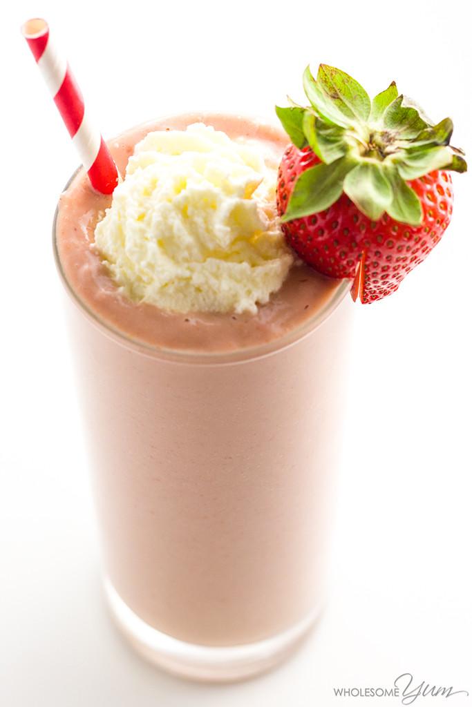 Keto Smoothie Recipes  Strawberry Avocado Keto Smoothie Recipe with Almond Milk
