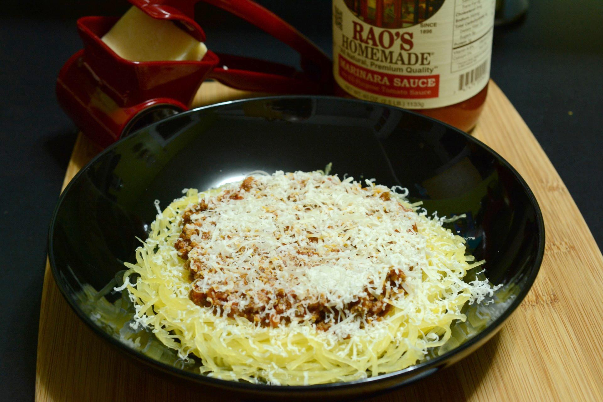 Keto Spaghetti Sauce  Spaghetti Squash with Meat Sauce Caveman Keto