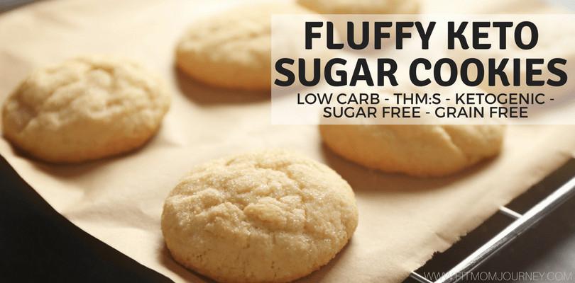 Keto Sugar Cookies  Fluffy Keto Sugar Cookies THM S Low Carb Ketogenic