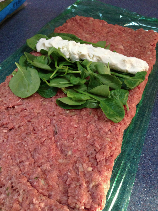 Keto Turkey Meatloaf  Keto Meatloaf Stuffed w Goat Cheese & Spinach