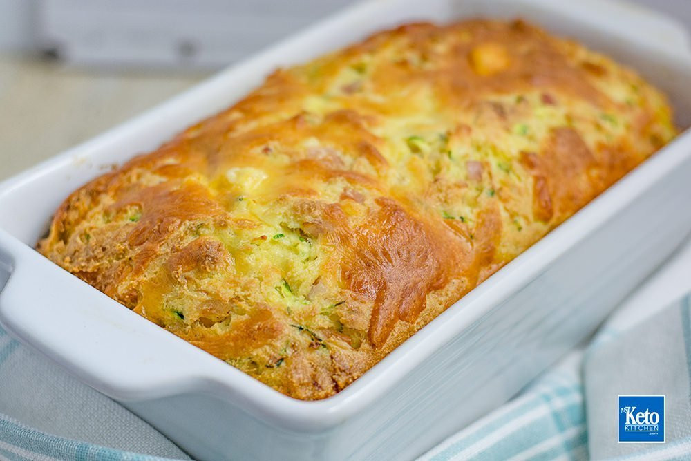 Keto Zucchini Bread  Keto Zucchini Bread Recipe Bacon & Cheese Gluten FREE