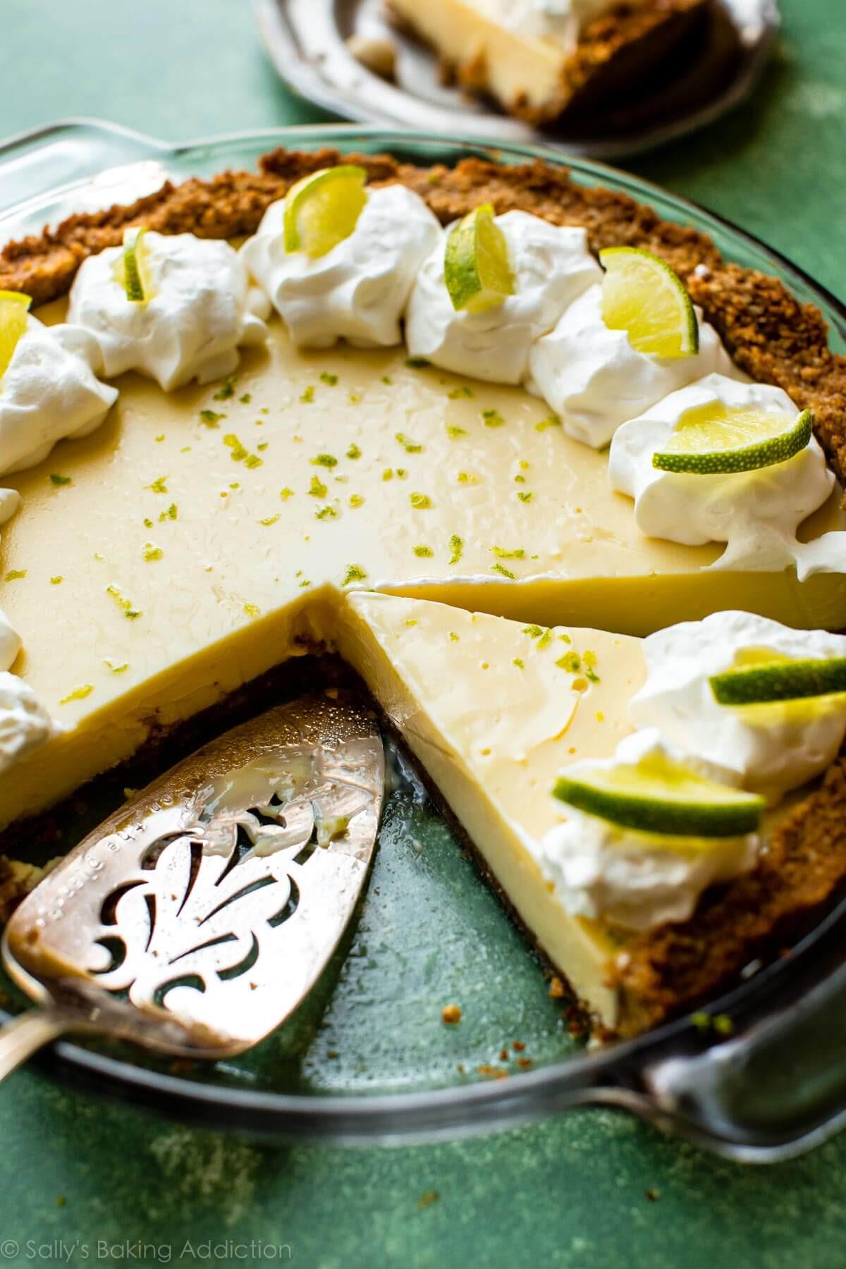 Key Lime Pie Recipe  Key Lime Pie with Macadamia Nut Crust Sallys Baking