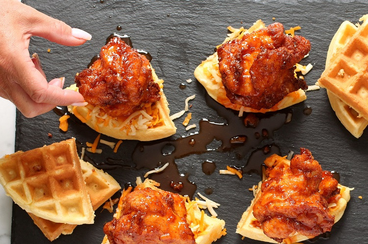 Kfc Chicken And Waffles  Pickled Fried Chicken and Waffles with Sriracha Butter and