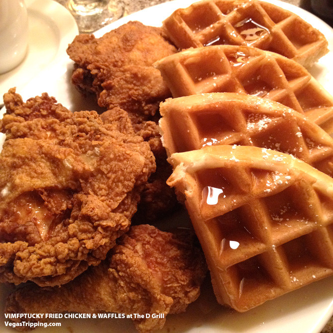 Kfc Chicken And Waffles  VegasEats VIMFPTUCKY Fried Chicken and Waffles at The D
