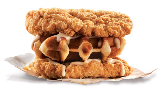 Kfc Chicken And Waffles  ing to Canada Waffle stuffed Double Down sandwich from