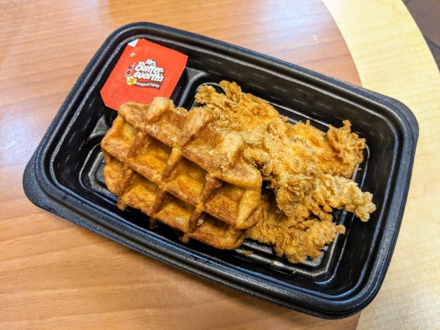 Kfc Chicken And Waffles  Review KFC Chicken and Waffles
