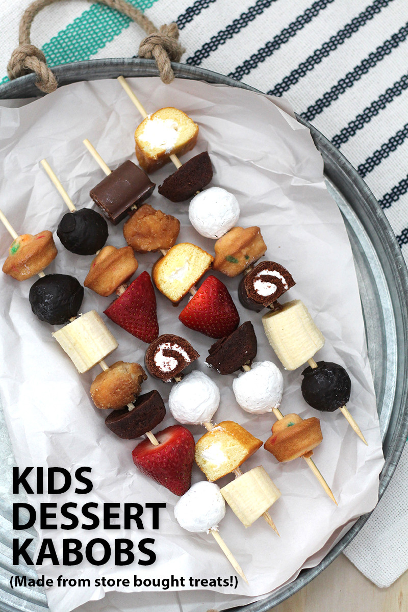Kid Dessert Recipe  Kids Dessert Kabobs Over The Big Moon