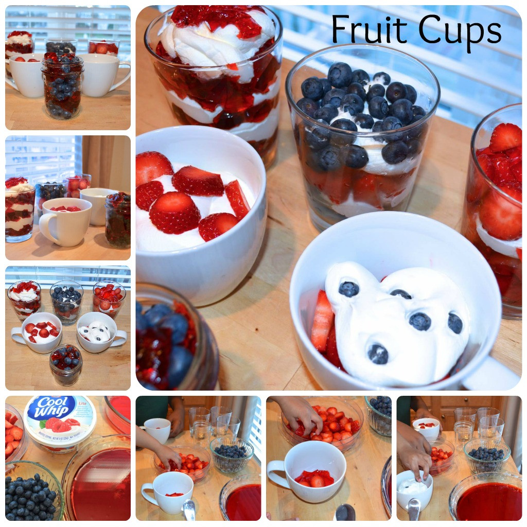 Kid Dessert Recipe  Easy Fun Kid Recipe Fruit Cups with Jello and Cool Whip