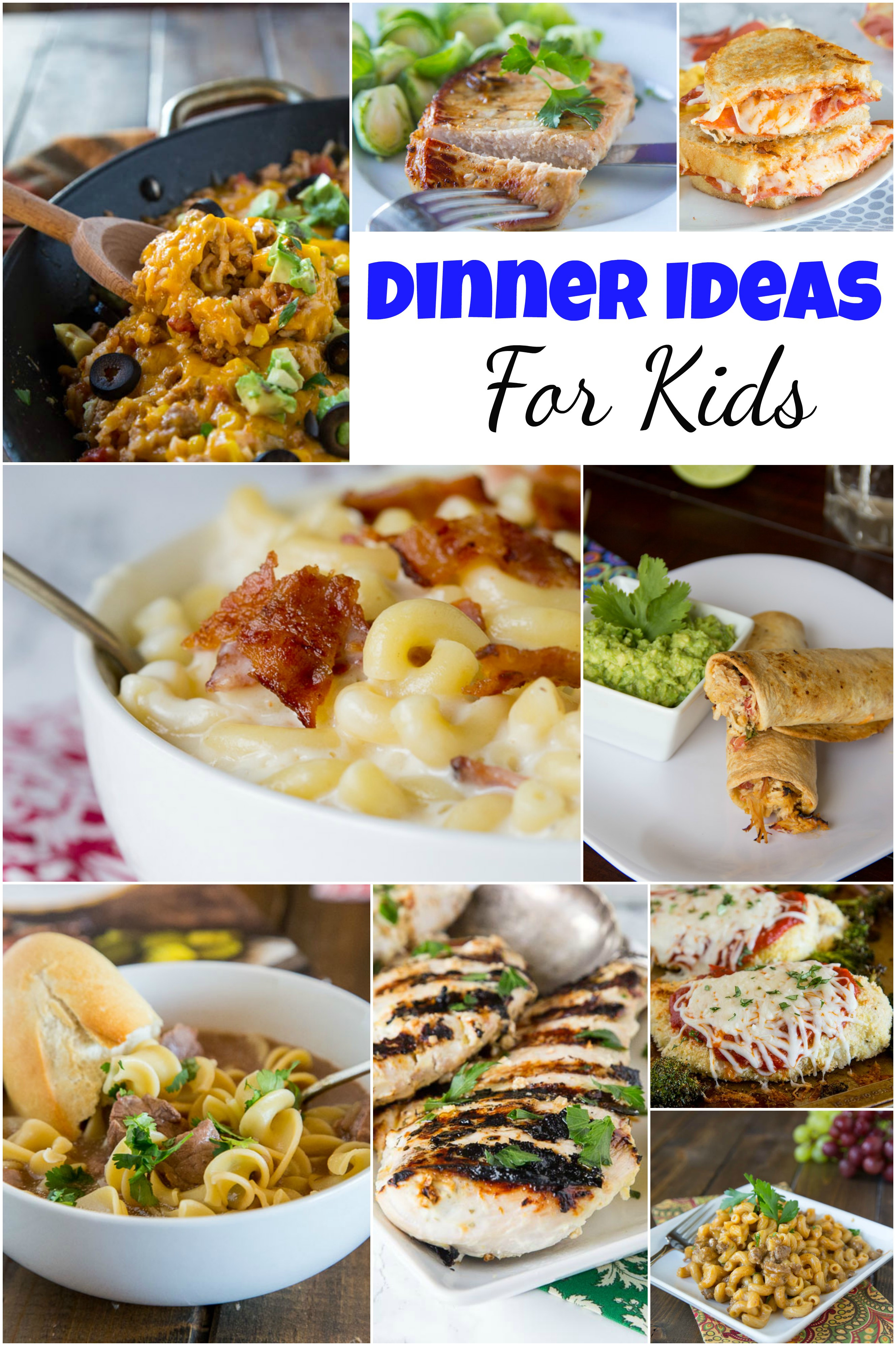 Kids Dinner Receipes  Dinner Ideas for Kids Dinners Dishes and Desserts