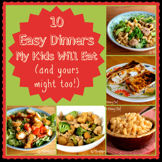 Kids Dinner Receipes  Ten Kid Friendly Dinners My Boys Will Eat and your kids