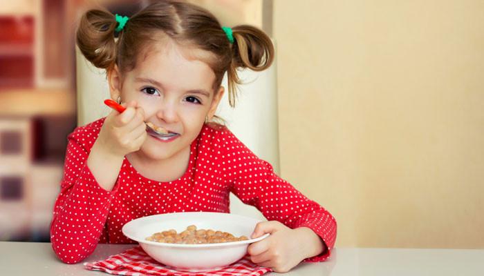 Kids Eating Breakfast  Here's a menu for good and kid friendly breakfast