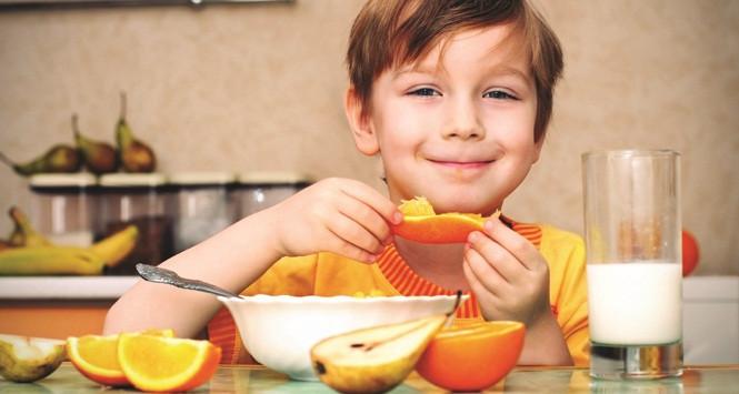 Kids Eating Breakfast  Teaching Kids Healthy Eating Habits