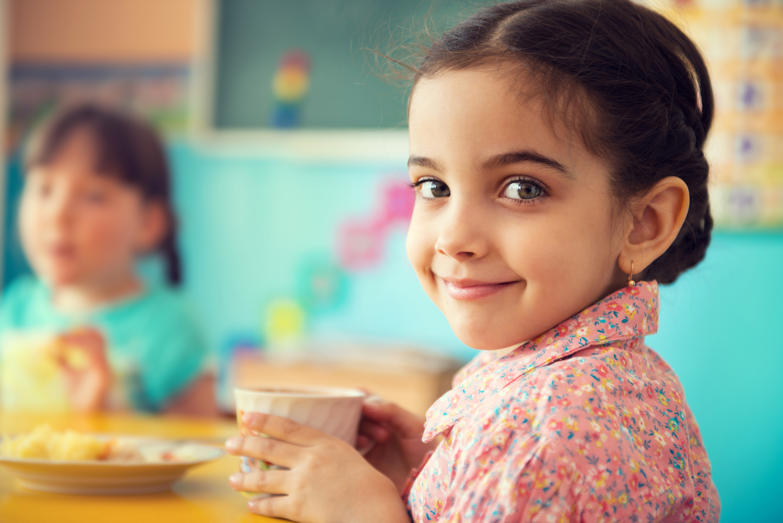 Kids Eating Breakfast  School Breakfasts Support Healthy Weight Study Shows