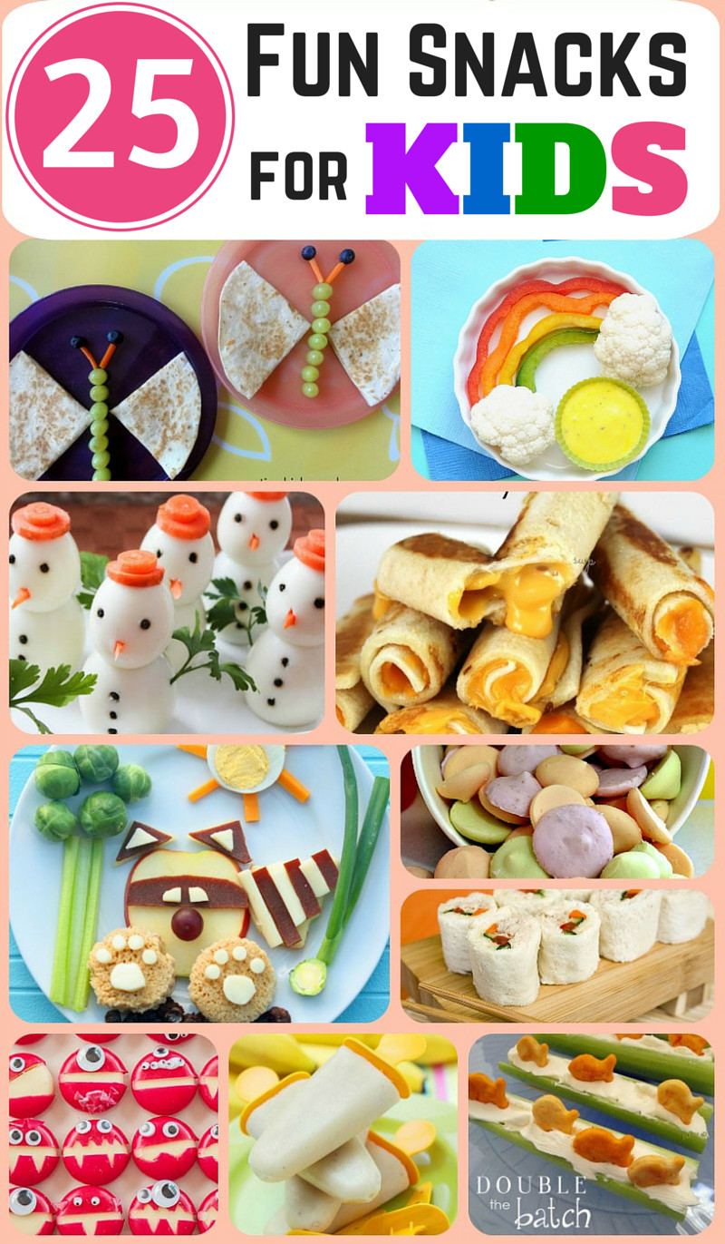 Kids Healthy Snacks  25 Fun and Healthy Snacks for Kids Double the Batch