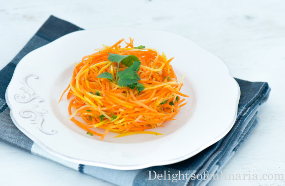 Korean Carrot Salad  Korean Carrot Salad Delights Culinaria