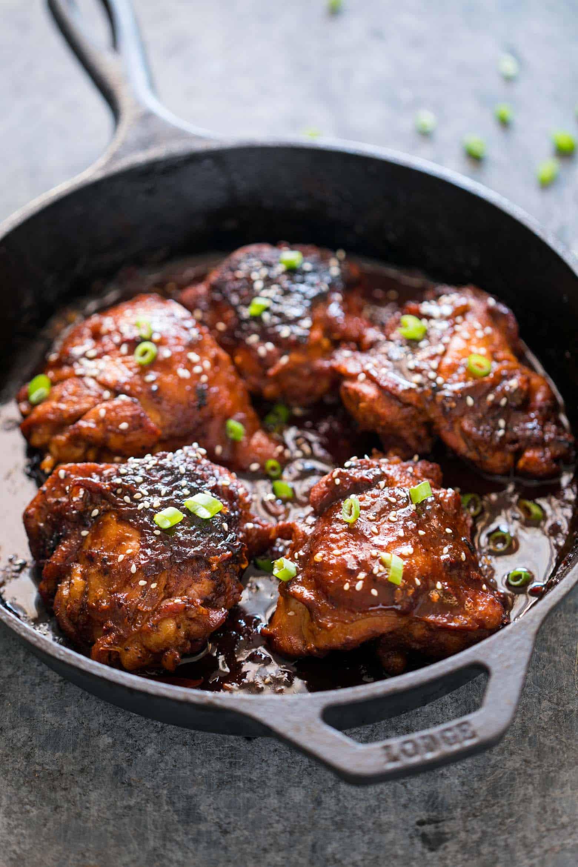 Korean Chicken Thighs  Spicy Korean Chicken Thighs in Gochujang Sauce
