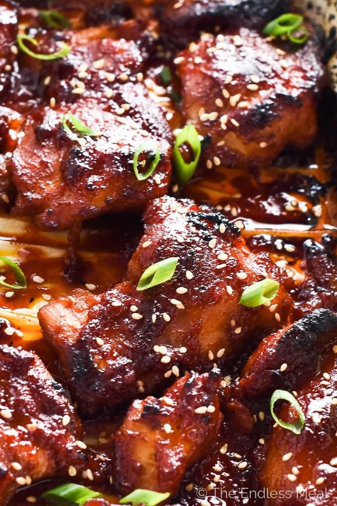 Korean Chicken Thighs  Korean Paleo Chicken Thighs