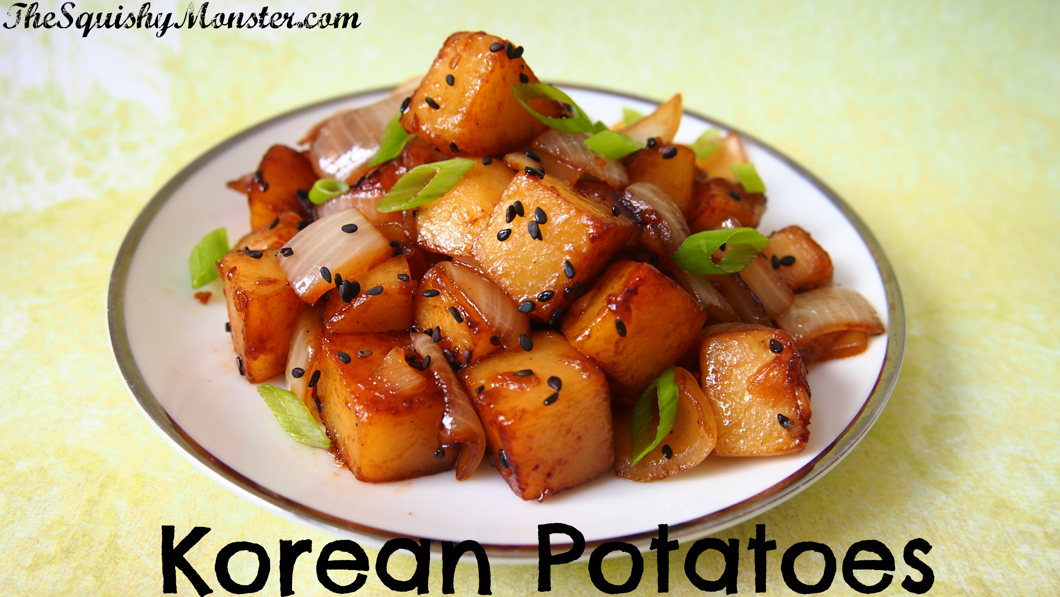 Korean Potato Side Dish  korean side dishes potato
