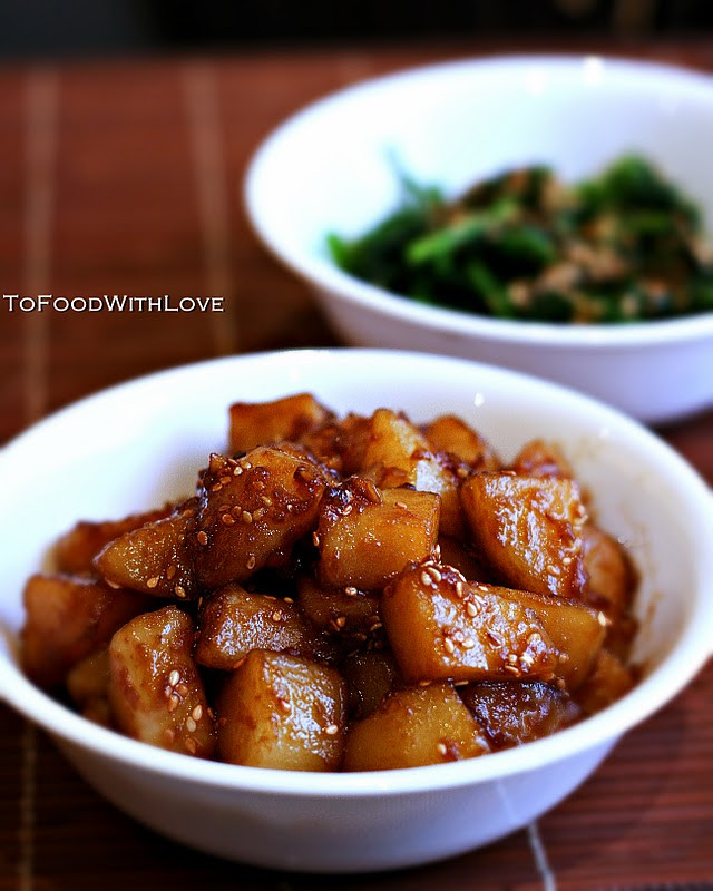 Korean Potato Side Dish  To Food with Love Gamja Jorim Potato Side Dish