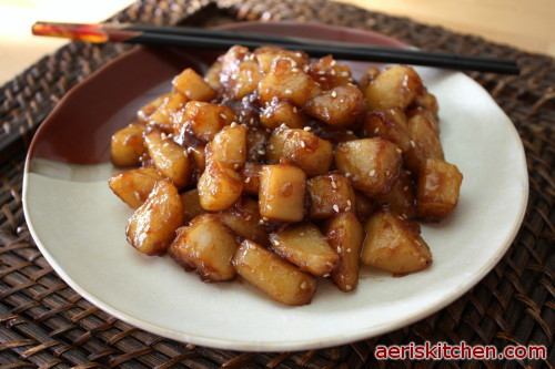 Korean Potato Side Dish  Korean Food Potato Side dish 감자 조림=GamJa JoRim