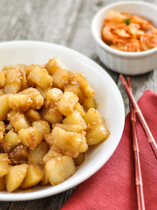 Korean Potato Side Dish  Korean Style Potatoes Gamja Jorim — My Love For Cooking