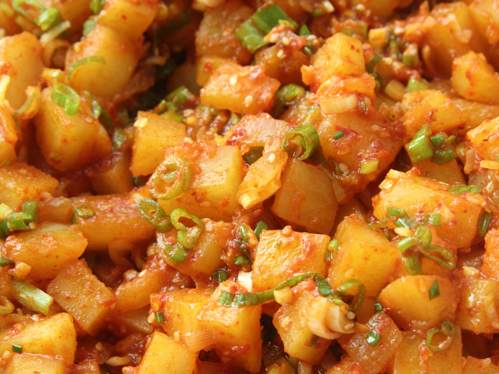 "Korean Potato Side Dish  Korean spicy potato side dish ""gamja jorim"""