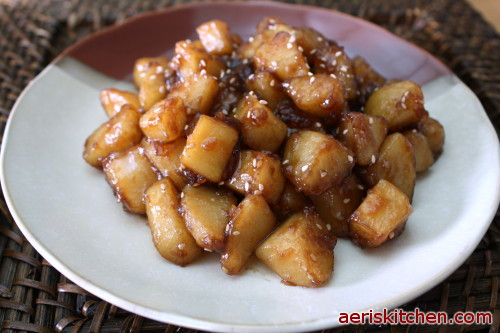 Korean Potato Side Dish  Potato JoRim – Aeri's Kitchen