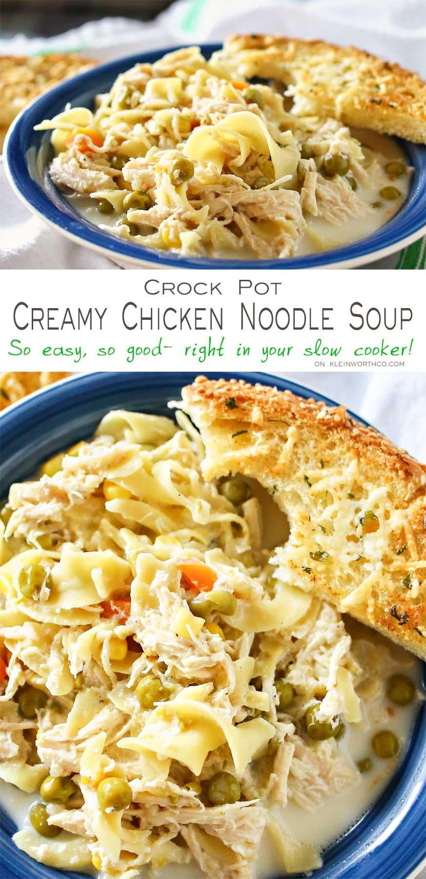 Kraft Chicken Noodle Dinner  Creamy Chicken Noodle Soup Kleinworth & Co