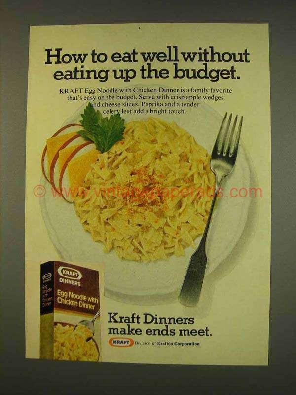 Kraft Chicken Noodle Dinner  1976 Kraft Egg Noodle With Chicken Dinner Ad