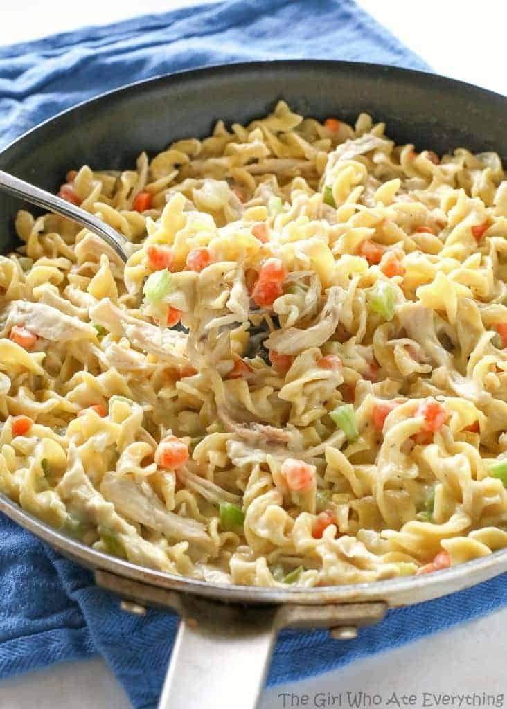 Kraft Chicken Noodle Dinner  Creamy Chicken Noodle Skillet The Girl Who Ate Everything