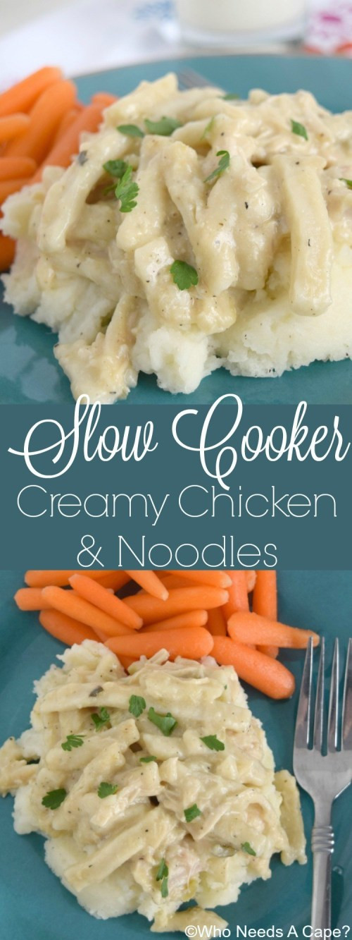 Kraft Chicken Noodle Dinner  Slow Cooker Creamy Chicken & Noodles Who Needs A Cape