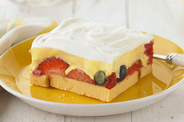 Kraft Recipes Desserts  Strawberry Ladyfinger Dessert Squares Kraft Recipes