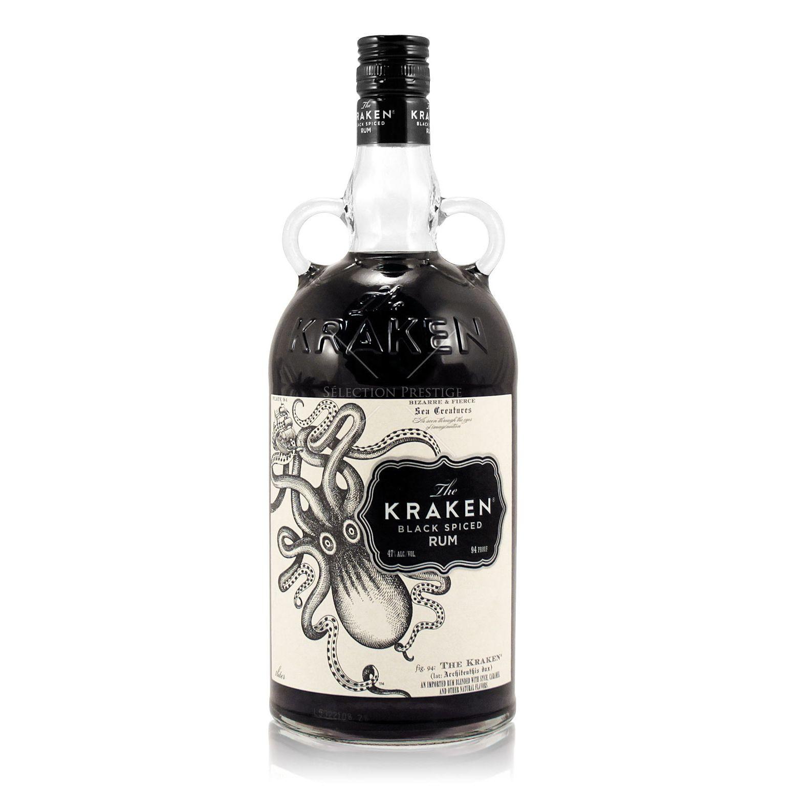 Kraken Rum Drinks  The Kraken Black Spiced Rum 1 0L Vol The Kraken Rum