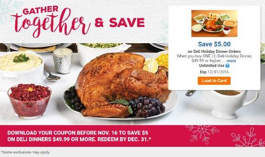 Kroger Christmas Dinner  Save $5 Deli Holiday Dinner Orders $49 99 Download