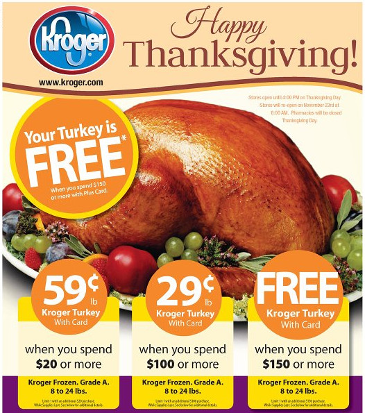 Kroger Christmas Dinner  Build A Menu Blog Blog Archive Get a Free Turkey at