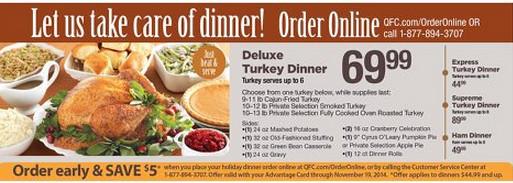 Kroger Thanksgiving Dinner 2017  Kroger Holiday Meals Best Holiday 2017