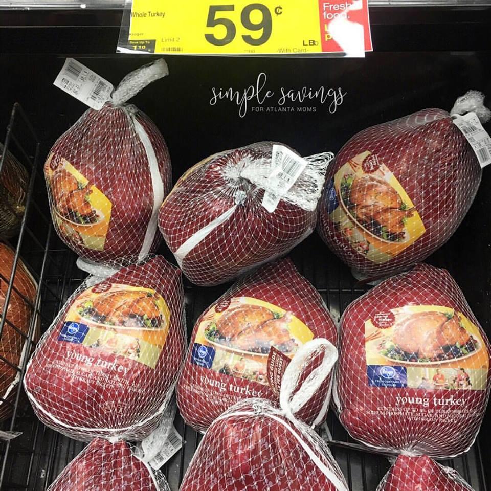 Kroger Thanksgiving Dinner 2017  $0 59 each lb Kroger Turkey