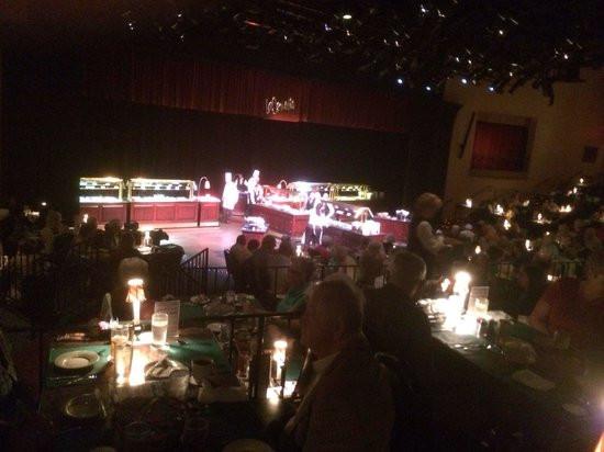 La Comedia Dinner Theatre  Buffett served on stage Picture of La edia Dinner