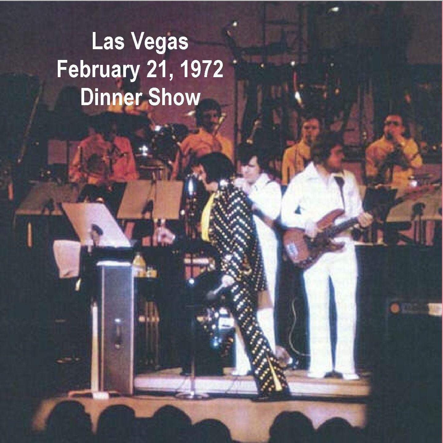Las Vegas Dinner Shows  ELVIS JAR LAS VEGAS FEBRUARY 21 1972 DINNER SHOW