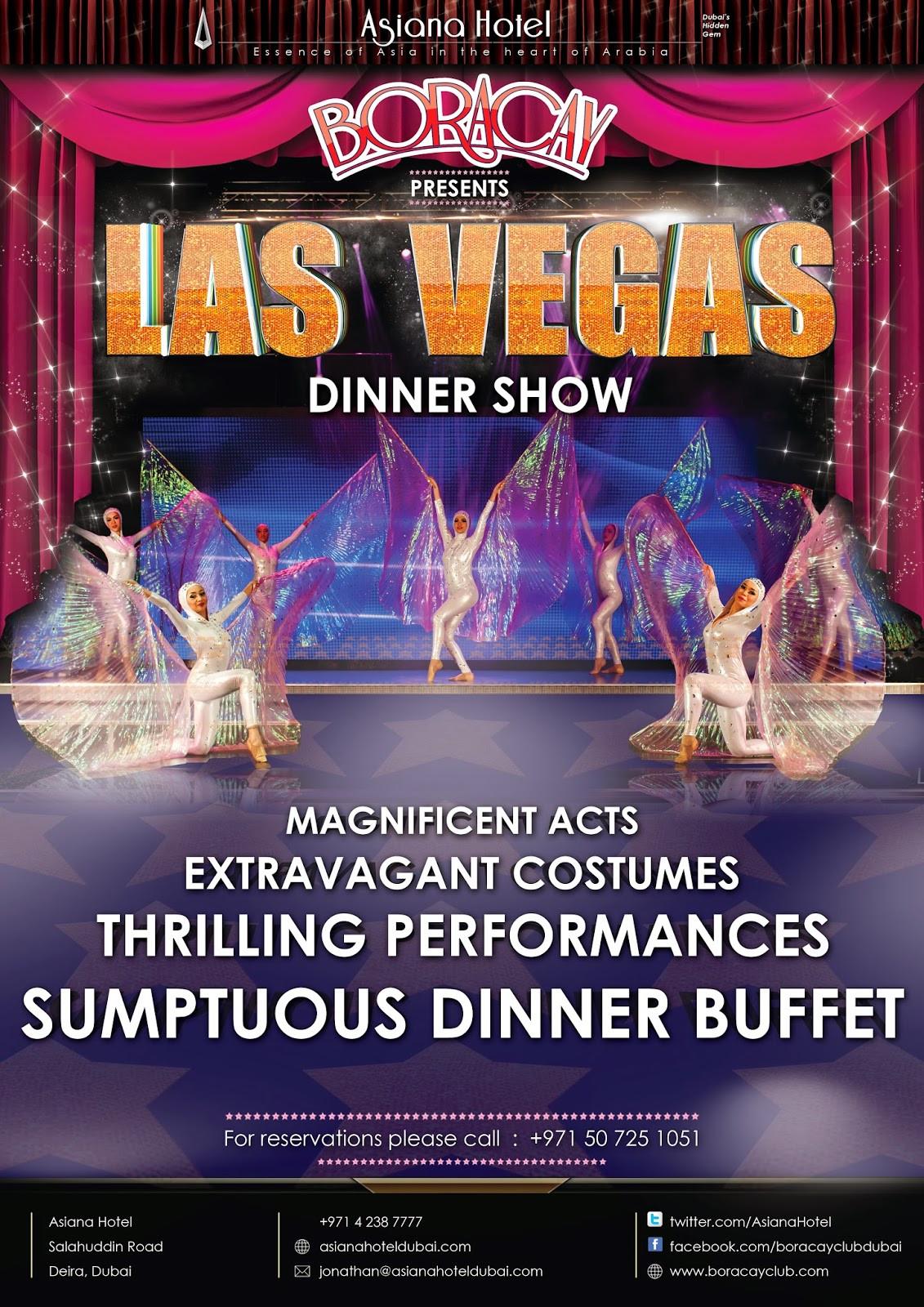 Las Vegas Dinner Shows  forward always forward CABARET NIGHTS IN DUBAI
