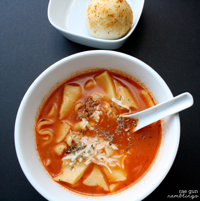 Lasagna Soup Crock Pot  Crock Pot Lasagna Soup Recipe and Other Football Party