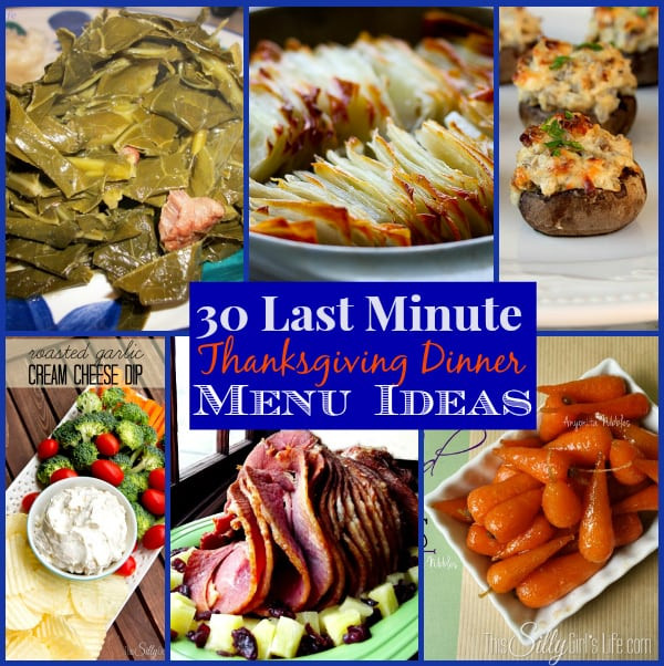 Last Minute Dinner Ideas  30 Last Minute Thanksgiving Dinner Menu Ideas The Weekly