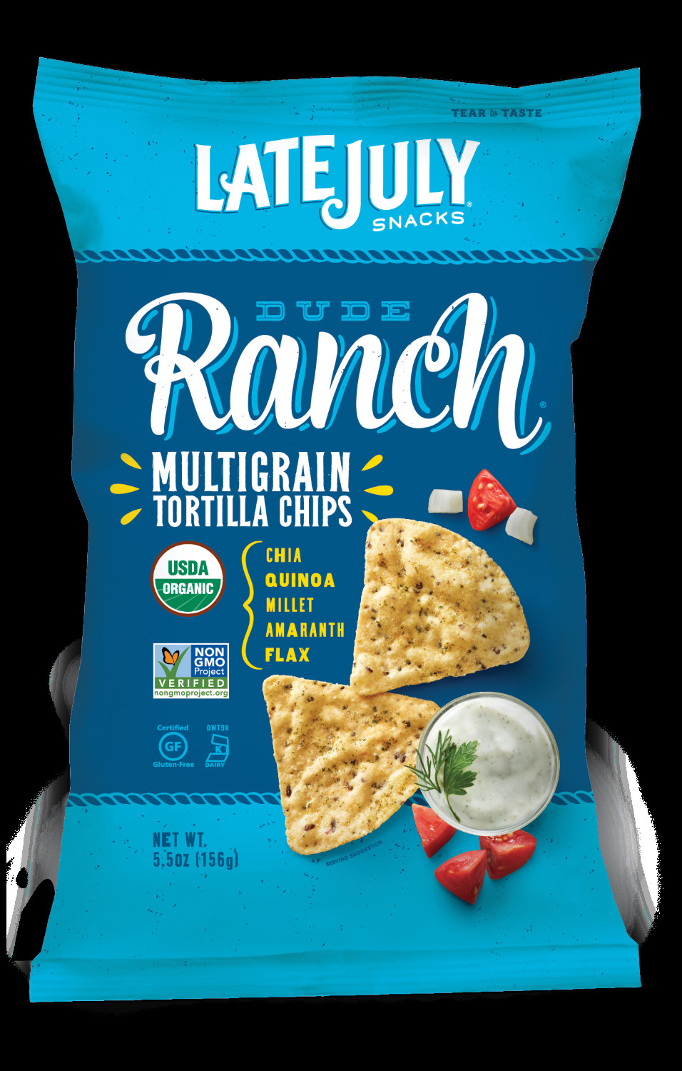 Late July Crackers  Late July Snacks Multigrain Tortilla Chips Dude Ranch 5