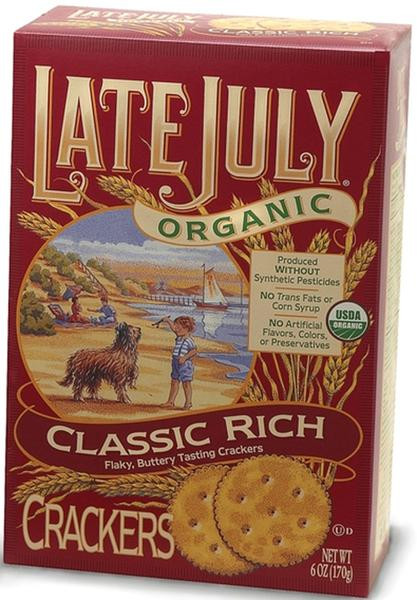 Late July Crackers  Late July Organic Classic Rich Crackers Goodness Me