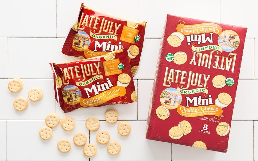 Late July Crackers  Organic Cheddar Cheese Sandwich Crackers Late July