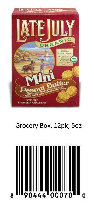 Late July Crackers  Peanut Butter Recalls